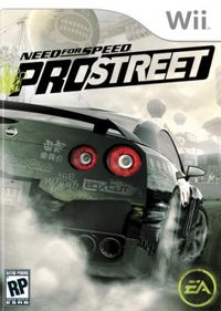 Need for Speed: Pro Street box art.