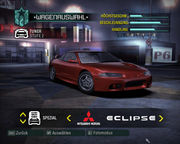 NFSC Car 1999 Mitsubishi Eclipse GSX From NFSUnlimited Need For Speed Wiki